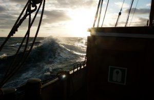 Nordseewellen bei stürmischer See