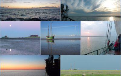 Collage Segeln im Wattenmeer