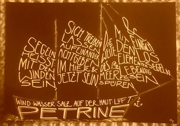 Petrine als Satzcollage