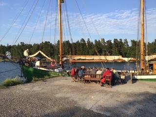 an der Pier auf Arholma im Stockholmer Schärengarten