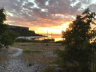 Ansicht der großen Karlsinsel vor Gotland